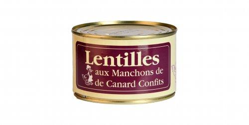 Lentilles aux Manchons de Canard Confits - Canard des Plateaux du Lac